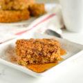 Pumpkin Spice Baked Oatmeal | nourishedtheblog.com |