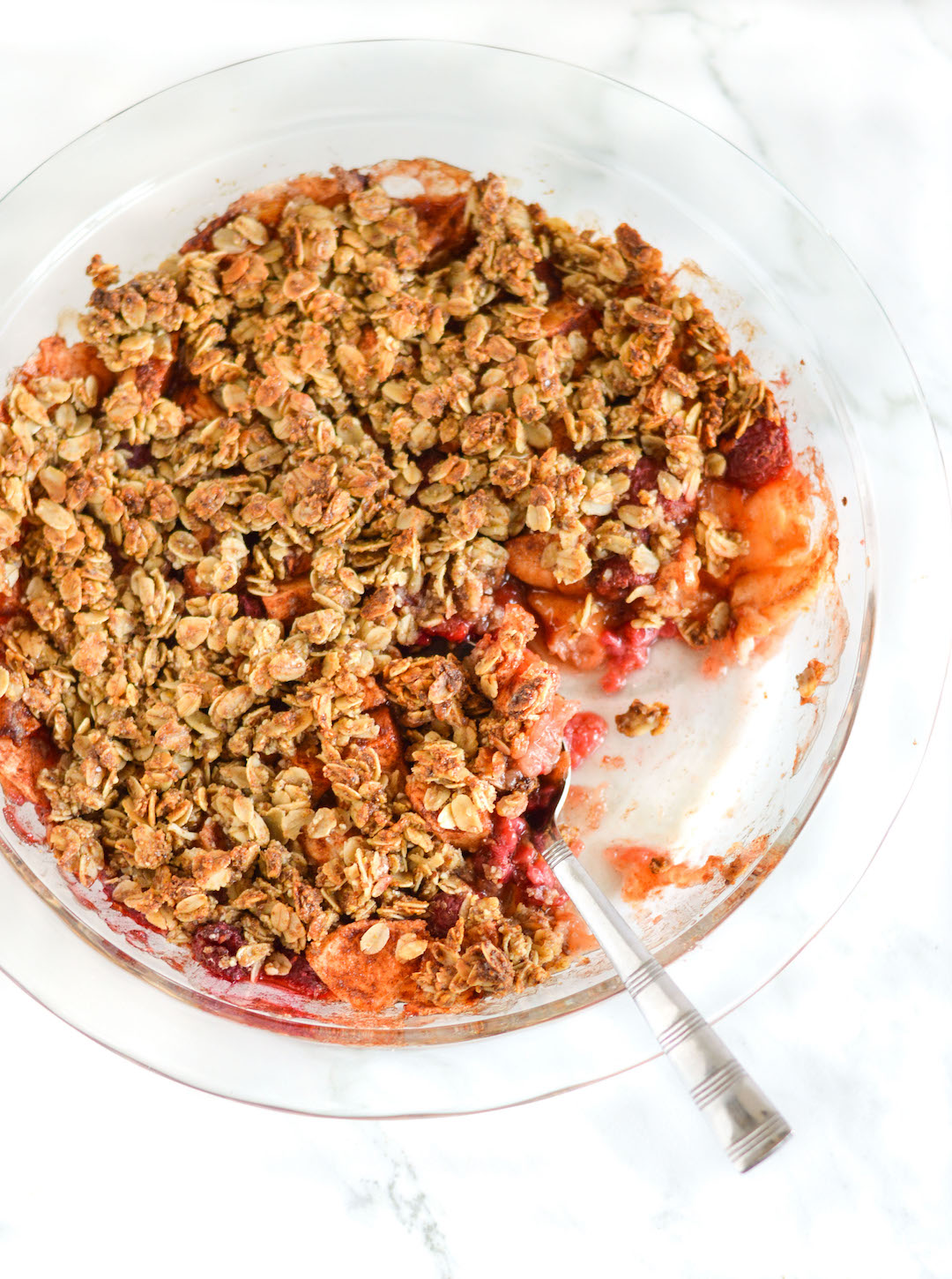 Apple Berry Crumble recipe made with fall-fresh cinnamony apples ...