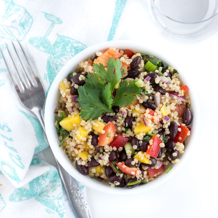 Crazy Easy Black Bean Mango Quinoa Salad - NOURISHED. the blog