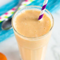 Sunshine Orange Creamsicle Smoothie | nourishedtheblog.com | feature image