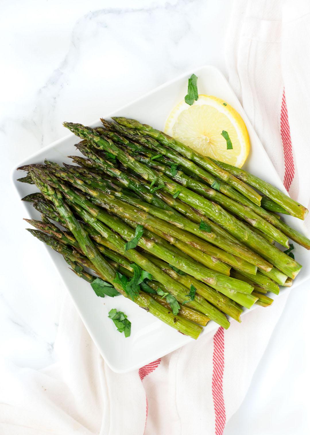 Honey Lemon Roasted Asparagus