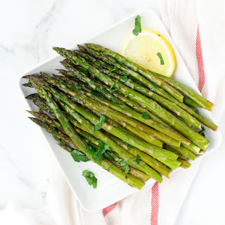 Honey Lemon Roasted Asparagus