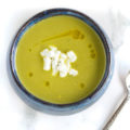 Easy Asparagus Soup with Goat Cheese