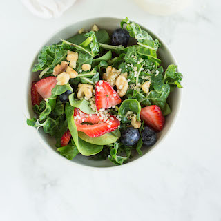 Fresh Swiss Chard Salad with Goat Cheese Dressing
