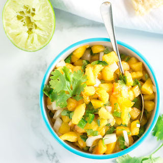 Easy Peach Salsa with Jalapenos | feature image