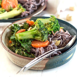 Peanut Soba Noodle Bowls with Veggies