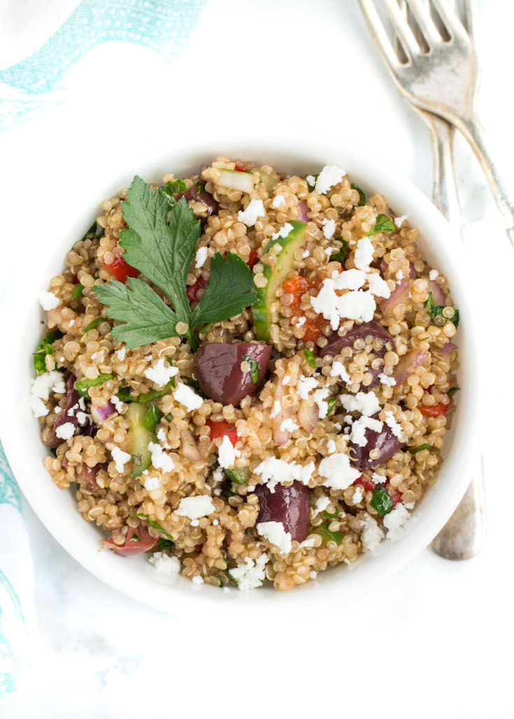 April 2017 | Mediterranean Quinoa Salad