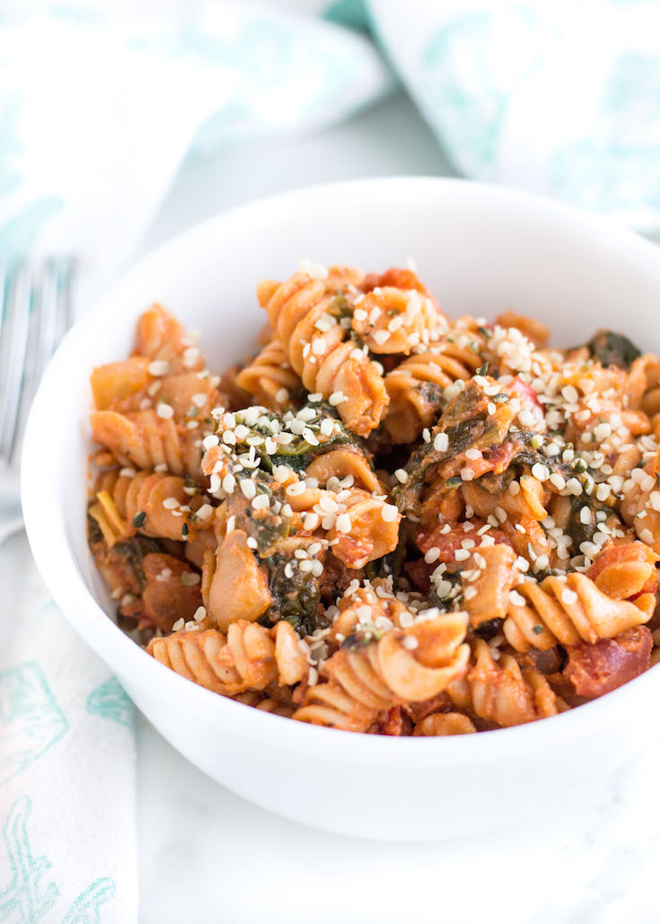 Creamy Tomato and Greens Pasta #ad #sponsored #bentiliapasta