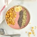 Stawberry Banana Smoothie Bowl | nourishedtheblog.com | feature image