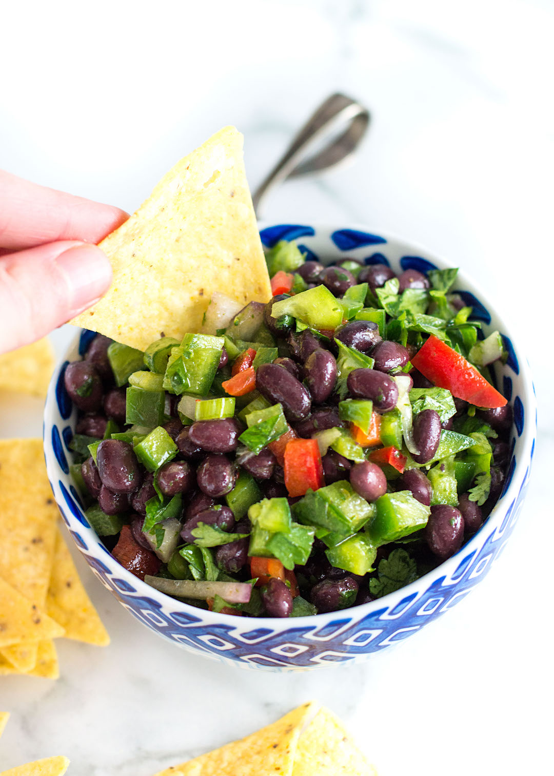 Healthy Black Bean Salsa Dip | gluten free, vegan, easy to make | healthy snack recipe |