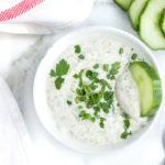 Healthy Ranch Dip (made with Greek Yogurt)