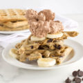 Gluten Free Almond Oat Waffles with Chocolate Chips | nourishedtheblog.com | feature image