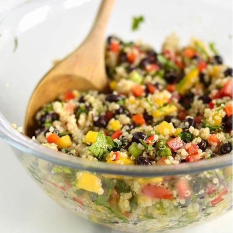 16 Awesome Quinoa Recipe Ideas | nourishedtheblog.com | Black Bean Mango Quinoa Salad