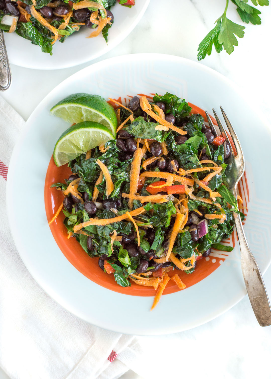 Easy black bean and kale salad nourished easy black bean and kale salad gluten free dairy free vegetarian vegan sciox Choice Image