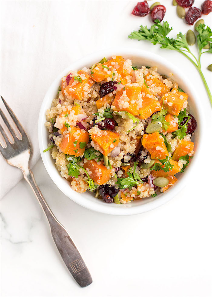 The Top 6 Recipes of 2016 | Gluten Free, Vegetarian, Easy to Make recipes | Roasted Sweet Potato Quinoa Salad with Zesty Lime Dressing