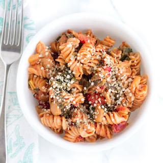 Creamy Tomato and Greens Pasta