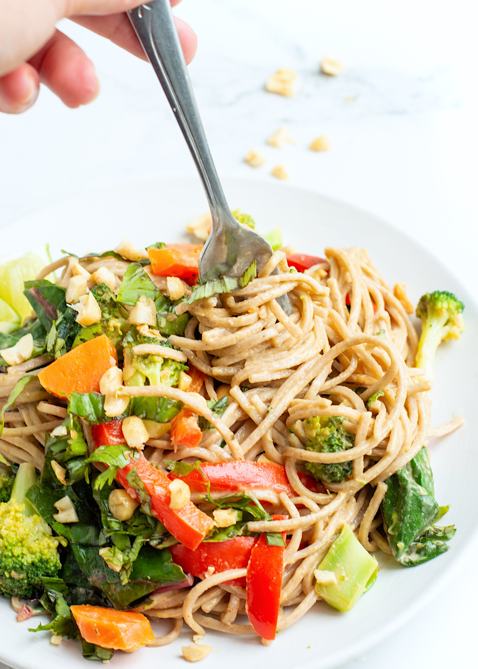 Easy Peanut Noodles with Veggies