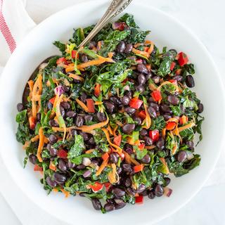 Easy Veggie Black Bean Salad with Zesty Lime Dressing