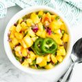 Easy Peach Salsa Feature Image